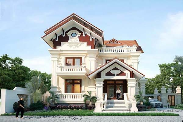 Thiết kế nhà mái thái tân cổ điển