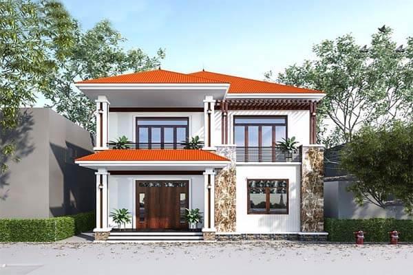 Thiết kế nhà vuông mái thái