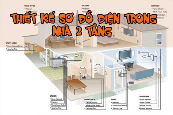 Sơ đồ điện trong nhà 2 tầng